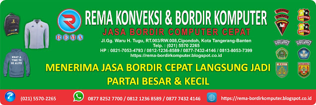 JASA BORDIR KOMPUTER MURAH BERKUALITAS WA.0877 8252 7700 - REMA KONVEKSI