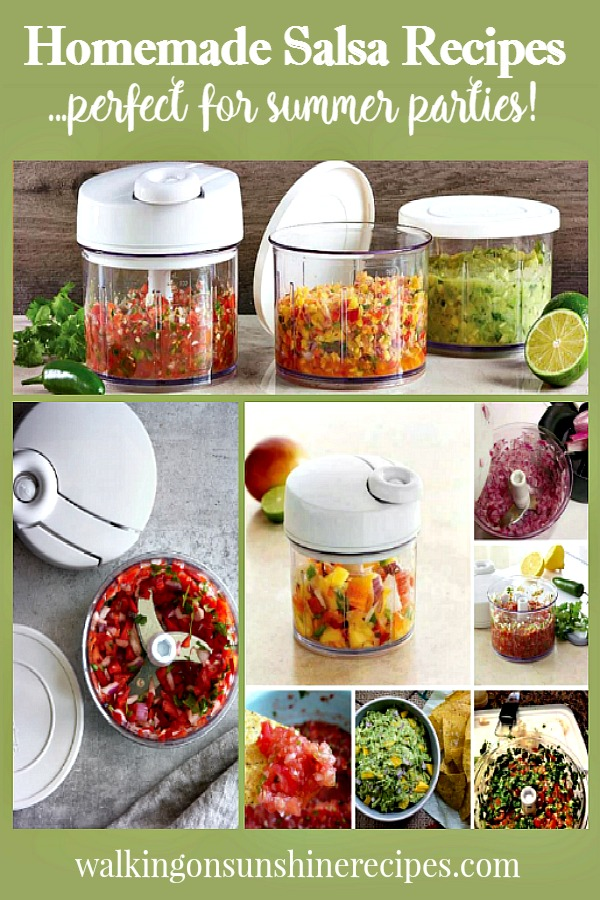 Homemade Salsa Recipes Perfect for Summer Parties from Walking on Sunshine.