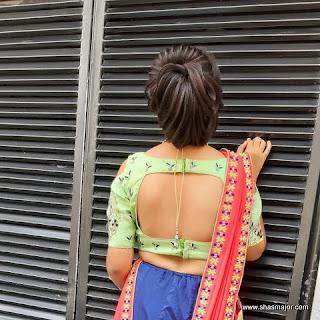 fancy saree blouse design