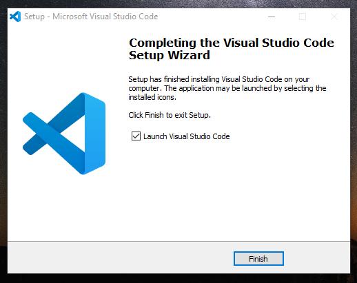 Instalasi Visual Studio Code Berhasil Dilakukan