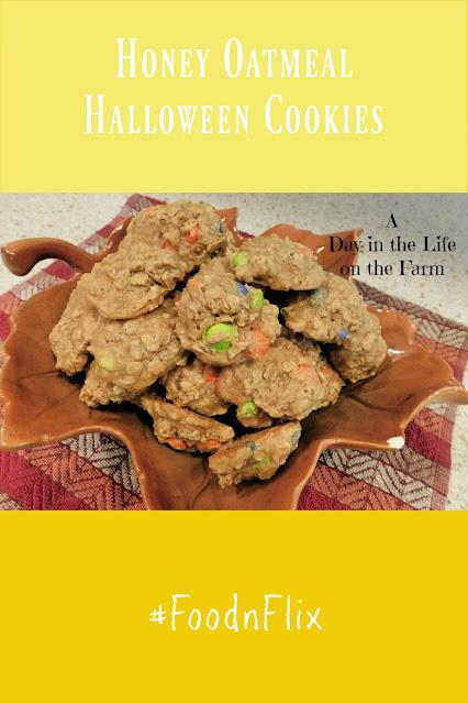 Honey Oatmeal Halloween Cookies