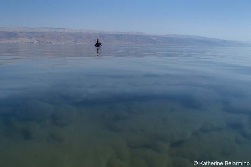Clear Water Floating in the Dead Sea and Tips Israel