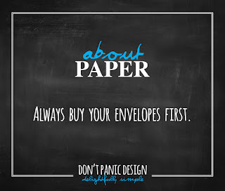 Don't Panic Design - How to choose the right paper for your invitation - what paper should I print on