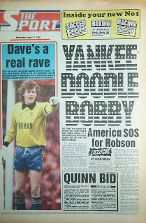 Back page of the first ever  Daily sport  newspaper published 17th August 1988