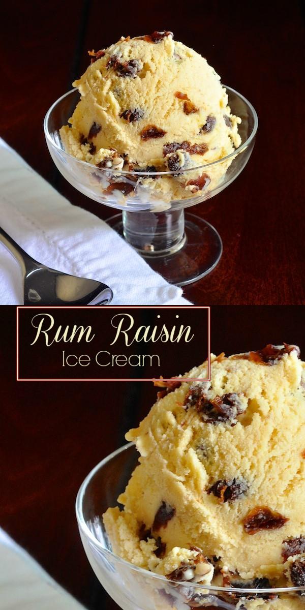 RUM RAISIN ICE CREAM #Icecreamrecipes