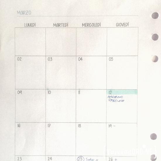 Paroladordine professional organizer tempo agenda mese