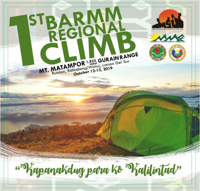 1st BARMM MMF Climb, Mt Matampor Gurain Range