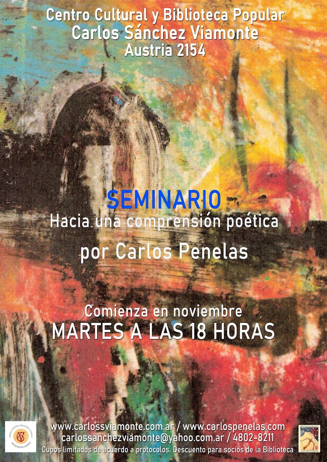 """Seminario """"Hacia una comprensión poética"""""""