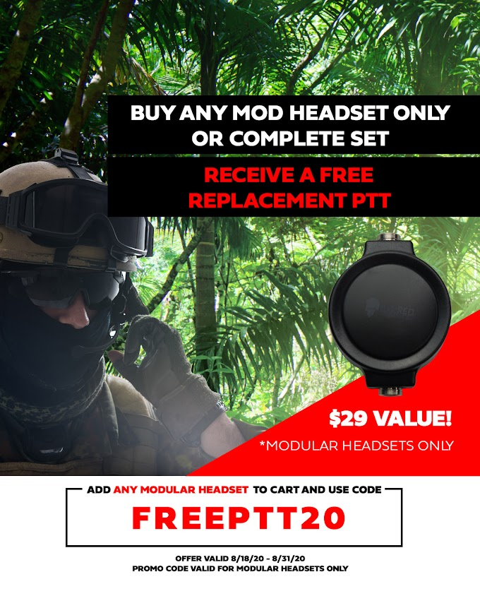 Our End Of Summer Promo Is Here! Receive a Free Modular PTT!