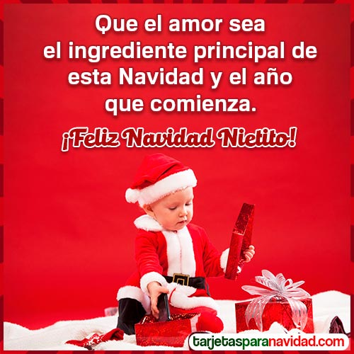 tarjetas feliz navidad nieto