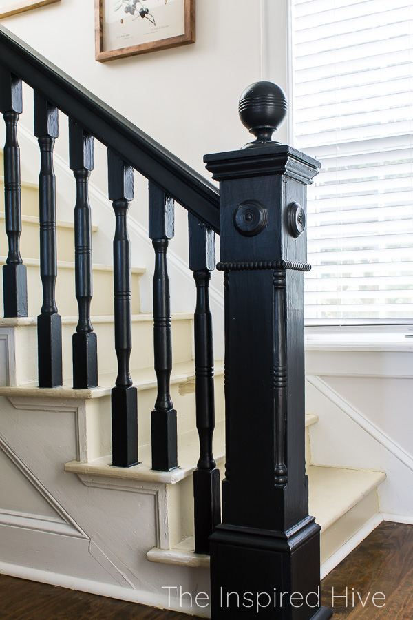 Painting our staircase black