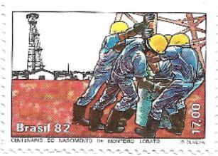 Selo Centenário de Monteiro Lobato