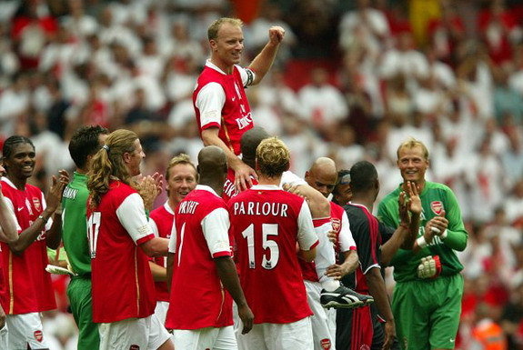 Dennis Bergkamp spent 11 years as an Arsenal player before calling it quits in 2006