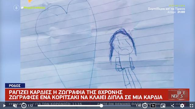 Σοκ από την ζωγραφιά της 8χρονης με ένα κορίτσι να κλαίει