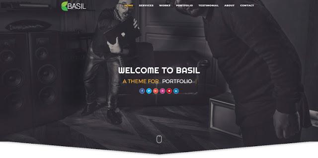 Basil шаблон для Landing Page 2019