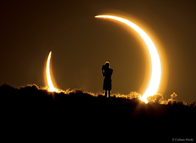 Eclipse solar anular em 2012 - Novo México - Colleen Pinski