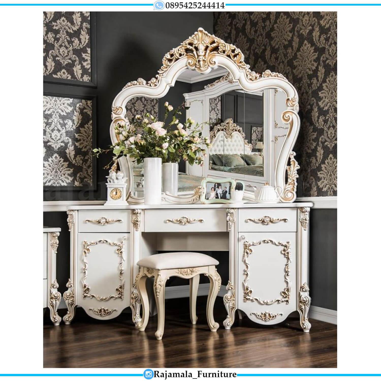 Elegant Meja Rias Jepara Desain Mewah Luxury Carving Style RM-0485