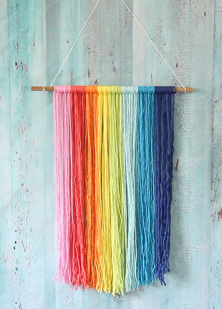Easy rainbow craft wall hanging