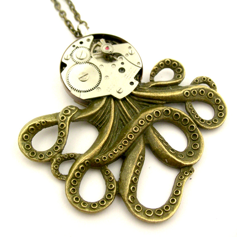 08-Cephalopod-Octopus-Pendant-Nicholas-Hrabowski-Steampunk-Jewelry-from-Recycled-Watches-and-Bullets-www-designstack-co