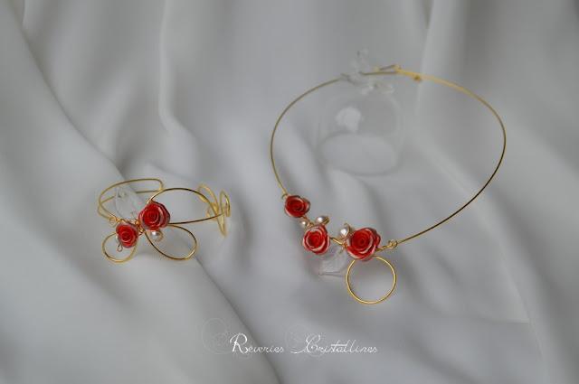 bijoux collier et bracelet fil plaqué or volutes