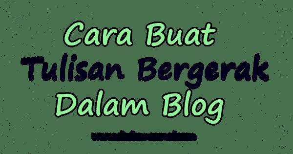 Tutorial, Cara, Tulisan Bergerak, Duit, Blog
