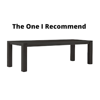 Jen Widners black dining table