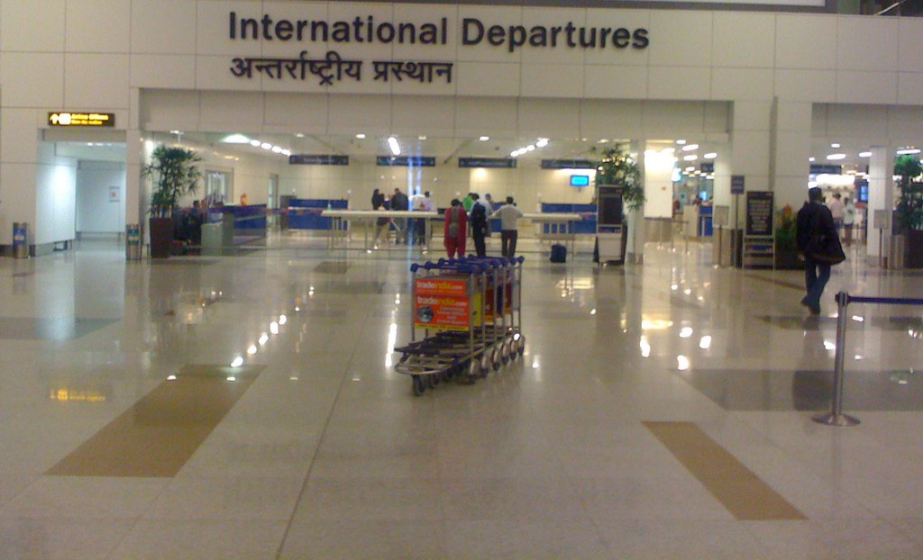 International airport departure terminal @India