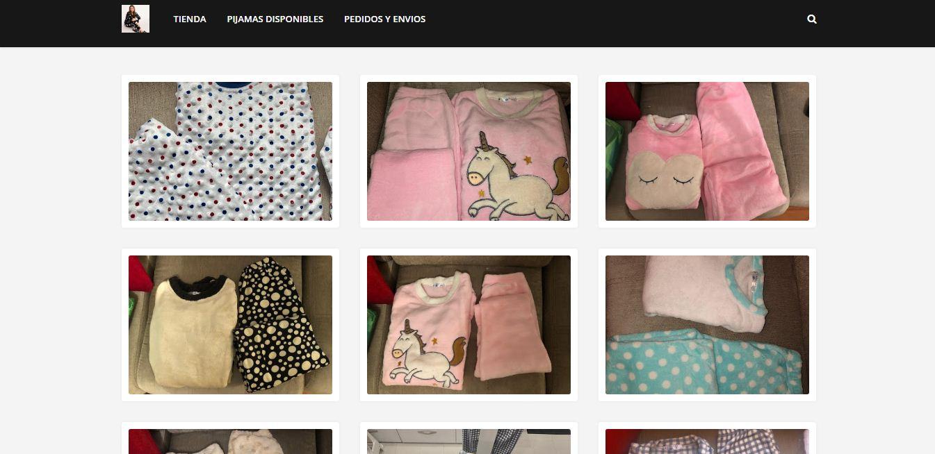 Diseño web www.pijamasensueñitos.com