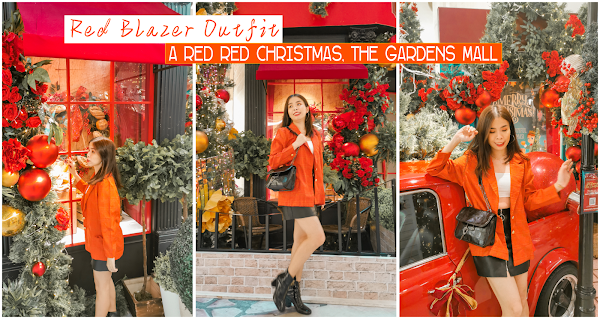 Red Blazer Outfit | a Red Christmas at The Gardens Mall