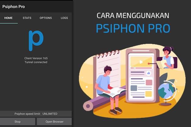cara menggunakan psiphon pro indosat kuota edukasi