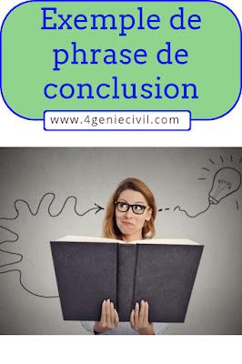 Exemple phrase de conclusion rapport de fin d'étude ou stage