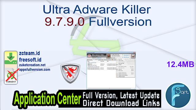 Ultra Adware Killer 9.7.9.0 Fullversion