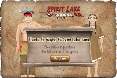 win screen with characters from Spirit Lake