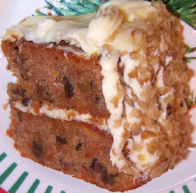 this is a carrot cake that taste like a scratch cake using a mix with fresh carrots grated in the batter