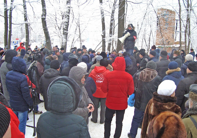 22.12.2018г. Митинг в защиту от застройки парка имени 60-летия Советской власти