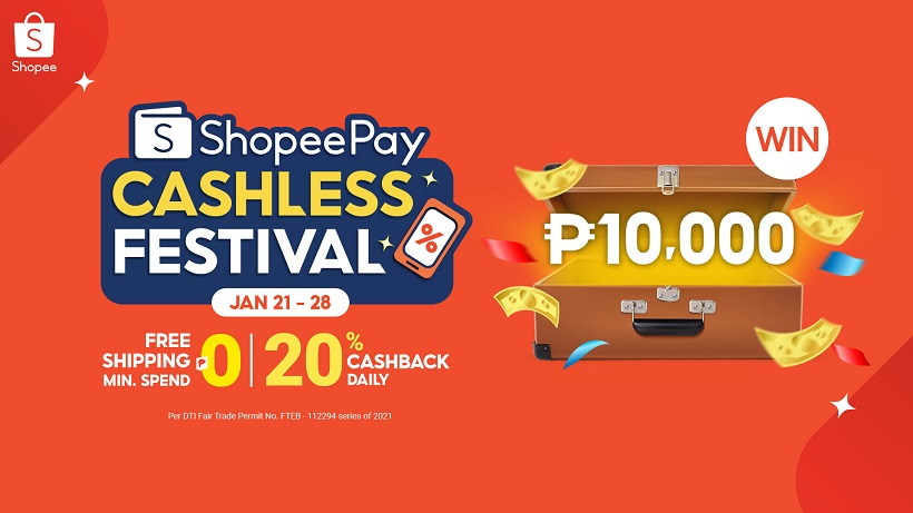 Top Up and Transfer on ShopeePay Cashless Festival for a Chance to Win ₱10,000