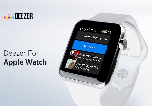 Deezer releases Apple Watch app