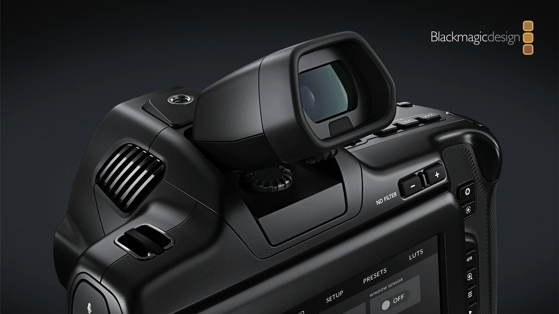 Наклонный ЭВИ в камере Blackmagic Pocket Cinema Camera 6K Pro