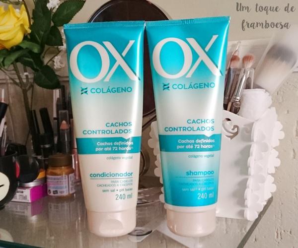 Resenha shampoo e condicionador OX Colágeno Cachos Controlados