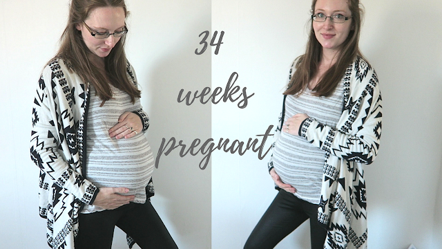 34 weeks pregnant bump shot