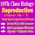 Reproduction 10th Biology Chapter Five Notes