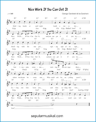 Nice Work If You Can Get It chords jazz standar
