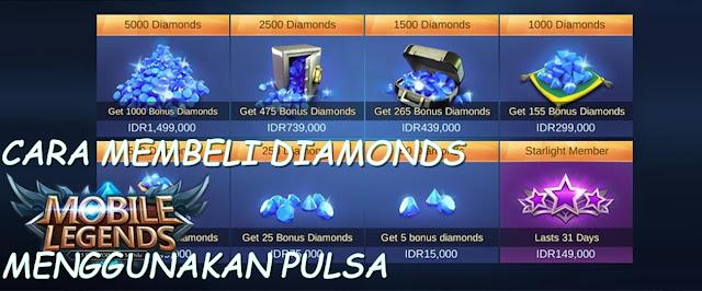 Cara Membeli Diamonds Mobile Legends Dengan Pulsa