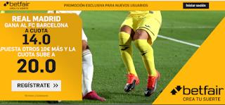 Betfair Supercuota doble Clasico Real Madrid gana Barcelona 1 marzo 2020