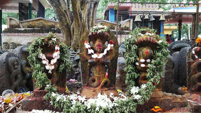 Art work for Naga God Sri Lakshmi Veera Bhadra Shilpa Kala Mandiram art in temple allagadda