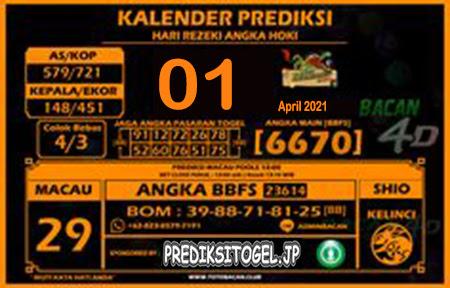 Prediksi Bacan4D Togel Macau Kamis 01 April 2021