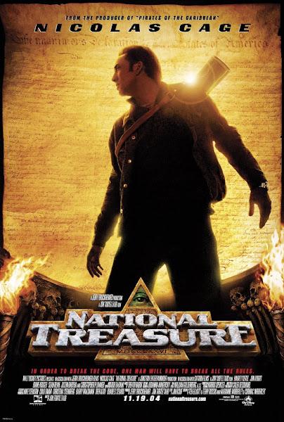 Poster of National Treasure 2004 720p Hindi BRRip Dual Audio Full Movie Download