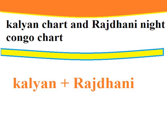 Kalyan Chart And Rajdhnai night Congo Chart