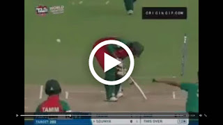 Mohammad Amir's wicket clean bowled shattered the stumps