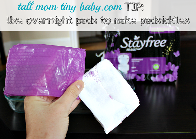 How to make post-birth and postpartum recovery pads - padsicles